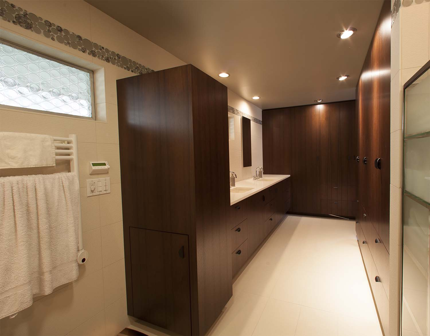 bathroom walnut cabinets